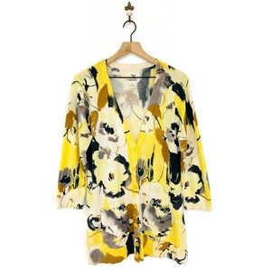 Anthropologie Tabitha Floral Oil Paints Cardigan